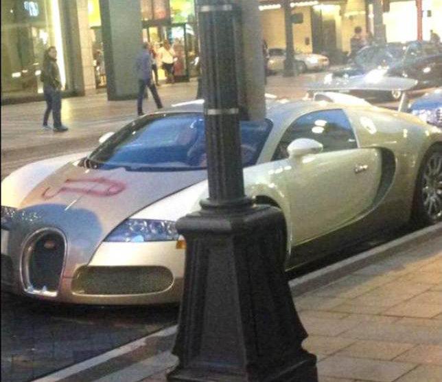 Une Bugatti Veyron vandalisé à Seattle (Etats-Unis) - Crédit Photo : Twitter