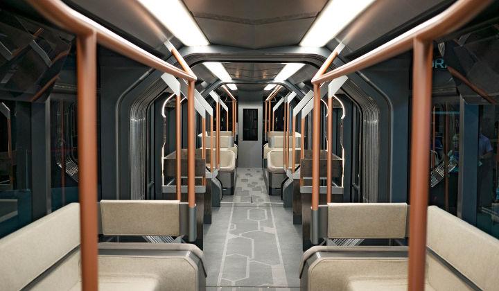 Tramway R1- L'interieur