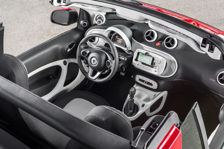 Smart Fortwo cabriolet interieur